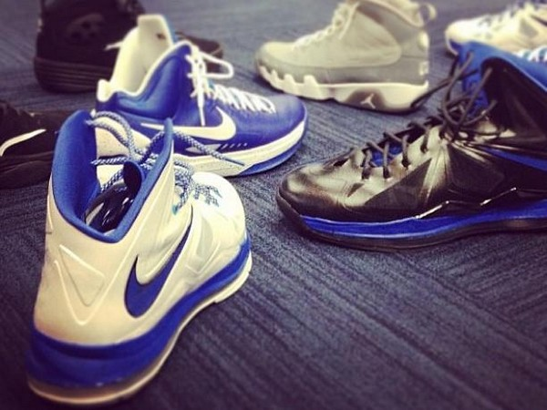 Wearing Brons Nike LeBron X DUKE Home amp Away Edition