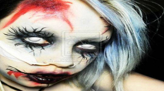 Maquillaje de halloween: Zombie X