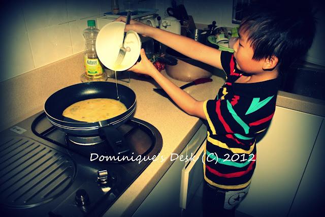 Monkey boy cooking