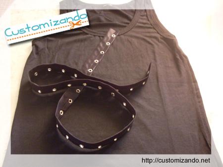 Customizando - transformando camiseta regata em colete