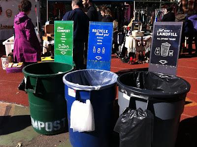 大型のゴミ箱
