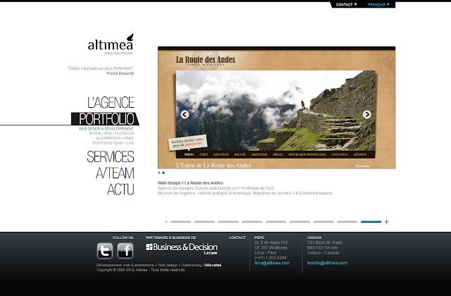 *科技感十足的「翼」Web Design|Agence Web Site 5