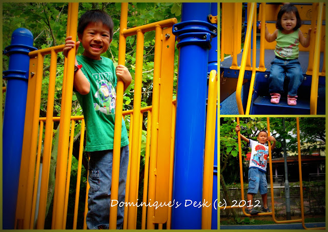 the kids playing