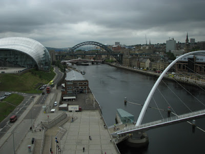 The Sage Gateshead and Gateshead Millennium Bridge