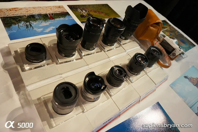 A wide range of E-Mount interchangeable lenses are available in the market