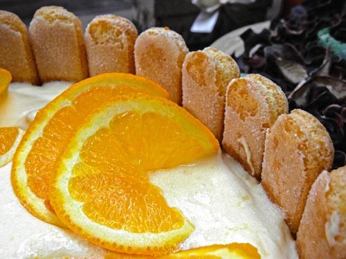 tort bez pieczenia jabłkowo pomarańczowy