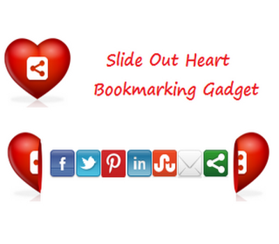 Add a Fixed Position Slide Open Heart Bookmarking Gadget To Blogger