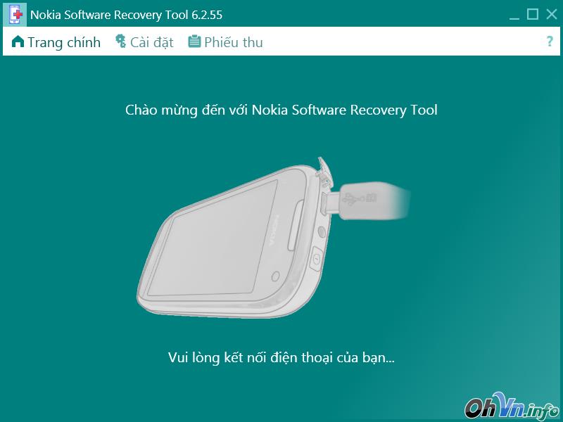 Chạy phần mềm, xóa mật khẩu Nokia 130, 215, 220, 225, 230