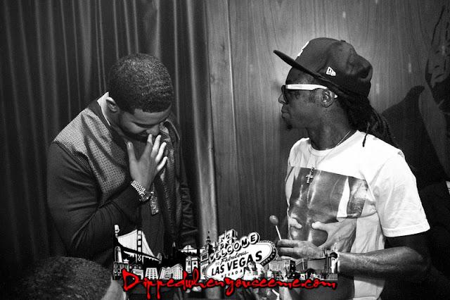 Foto do Drake agradecendo o Lil Wayne