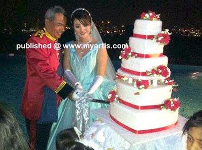 Gambar yang dikatakan perkahwinan bekas ketua polis negara