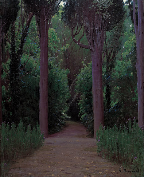 Santiago Rusiñol - Path in a Park