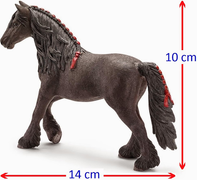 Đồ chơi Mô hình Ngựa cái Friesen Mare xinh xắn
