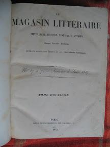 Portada de Magasin Littéraire.