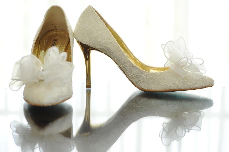 ウェディングシューズ ブライダルシューズ 花嫁 靴 ヒール パンプス シューズクリップ 画像