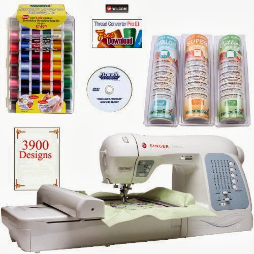 Singer Futura XL-400 4-in-1 Sewing & Embroidery Machine w/ BONUS PACKAGE