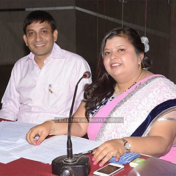 Anshuman Sahasrabhojanee & Neelu Taori at the New Board of Rotary Ishanya introduction at hotel Centre Point in Nagpur.