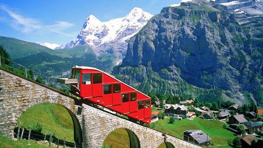 Mountain Railway in the Alps, Switzerland.jpg