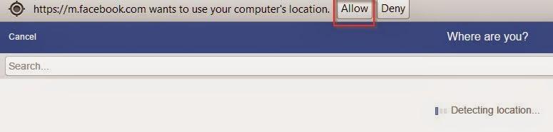 Check in địa điểm giả lập trên facebook