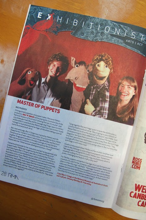 Article in the BMA Magazine about our upcoming show at the NMA