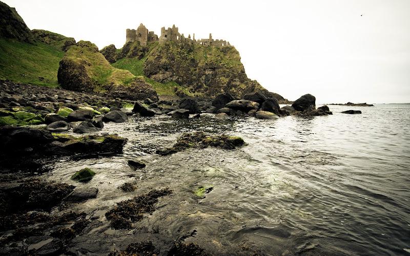 Irlandia Płn -- Dunluce Castle..