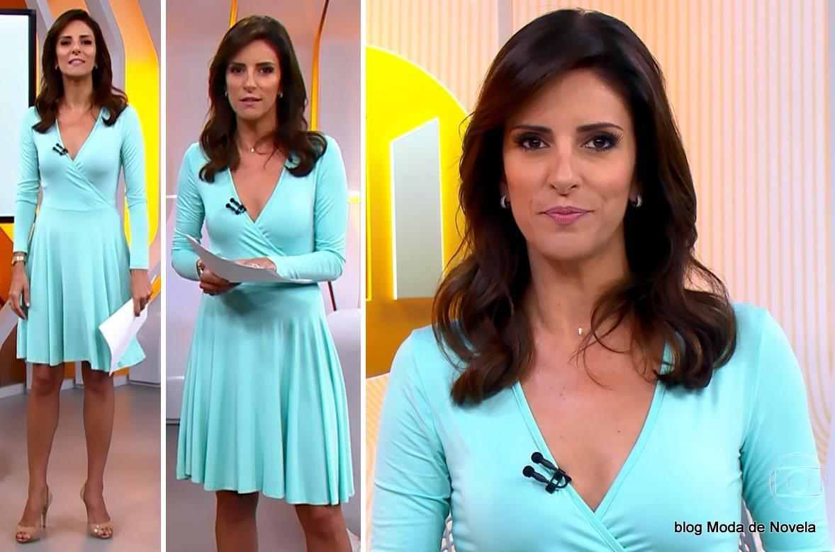 moda do programa Hora 1, look da Monalisa Perrone dia 16 de janeiro de 2015