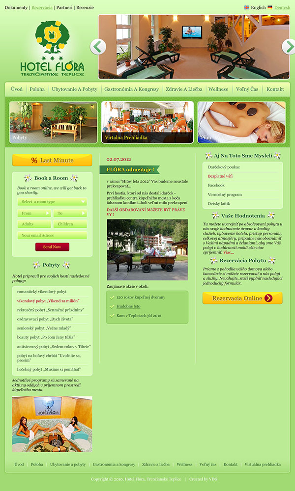 hotel website homepage design