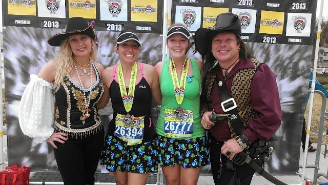 Pirates Chrissy Me GDC2013 Gasparilla Half Marathon 2013 {recap}