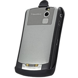 Rubberized Force Holster w/ Sleep Mode Function for BlackBerry 8300 Curve (Black)