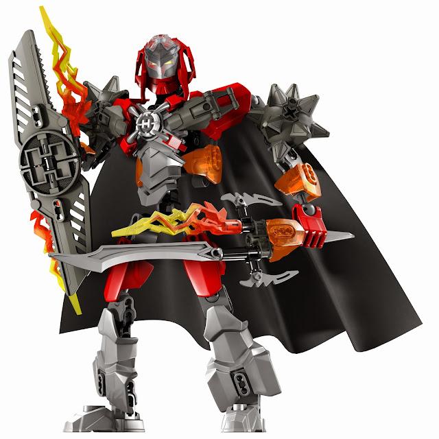 Lego Hero Factory 44000 Furno XL với thanh kiếm lửa và giáp chắn lửa đã sẵn sàng chiến đấu