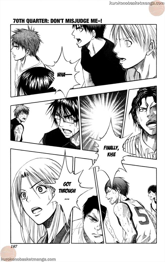 Kuroko no Basket Manga Chapter 70 - Image 1