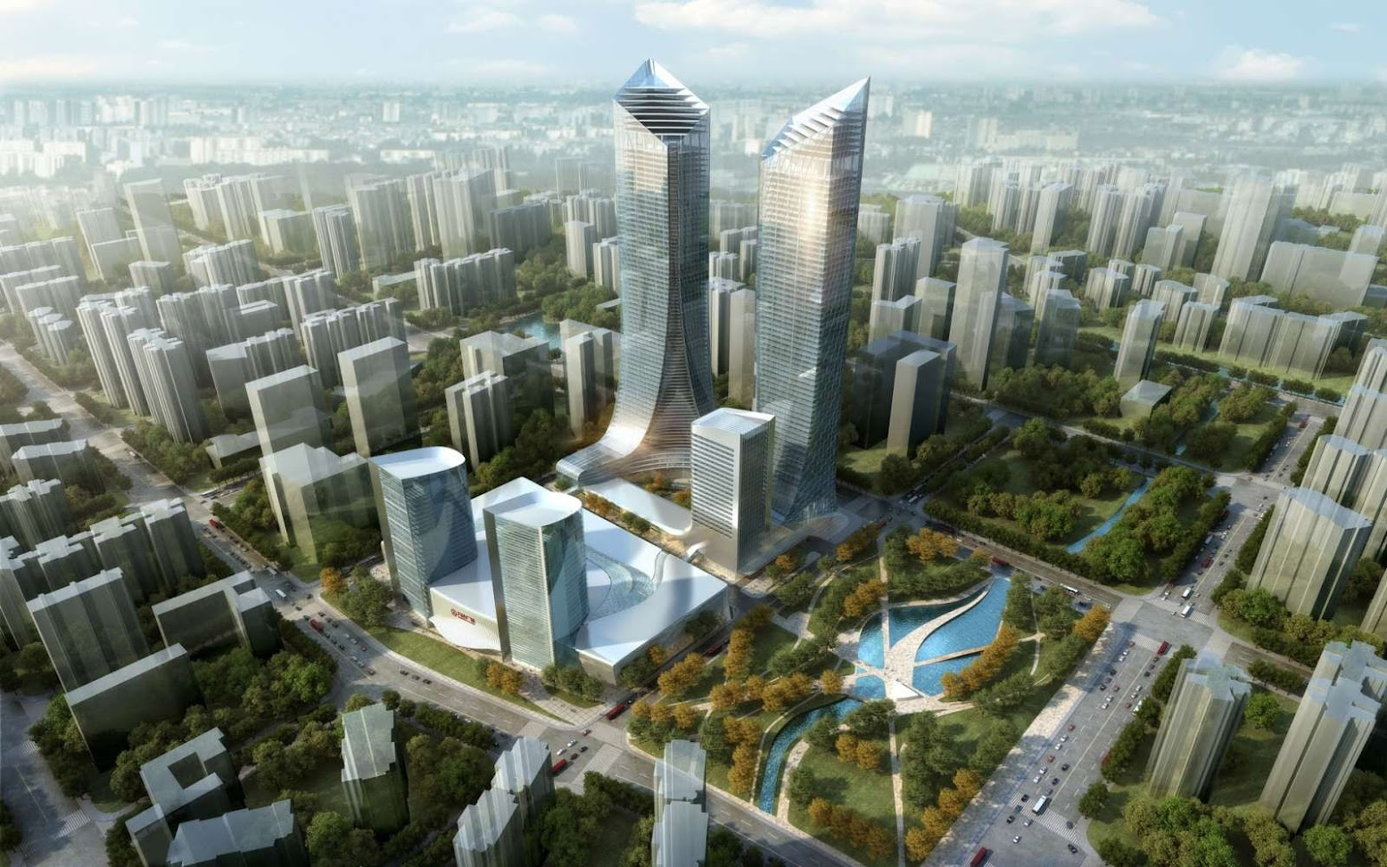 Kunming, Yunnan, Cina: [MIXED USE LUXURY DEVELOPMENT BY WOODS BAGOT]