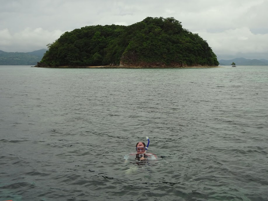 Tony Griffitts snorkeling off of Sand Island, Palawan, Philippines.