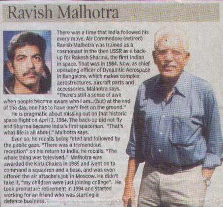 indian astronauts ravish malhotra - photo #22