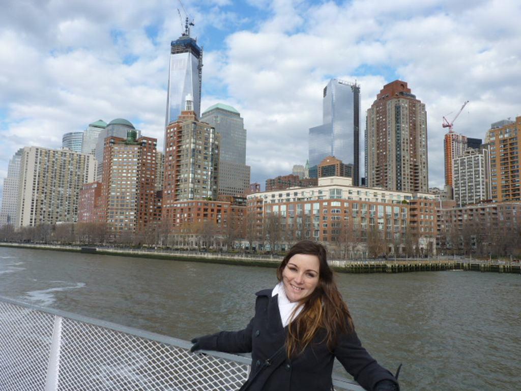 Skyline Nueva York desde el crucero de la Estatua de la Libertad