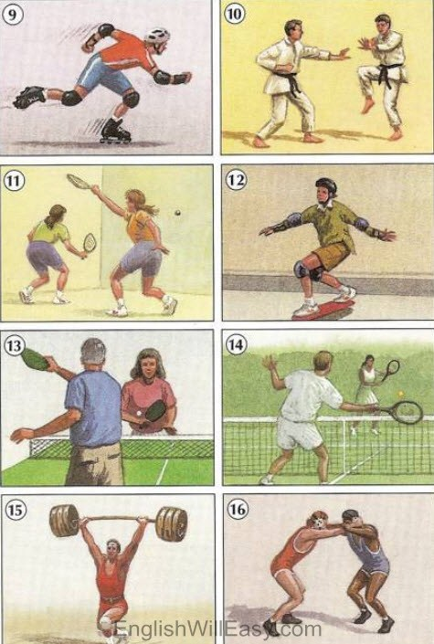 Individual Sports – Picture Dictionary