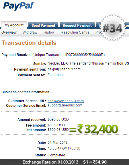 Neobux Payment Proof 34