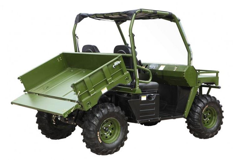 500cc Agmax Military Farm UTV Green with tilt tray