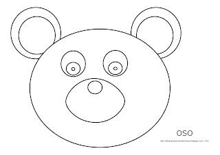 Dibujo del oso para imprimir, colorear y pintar