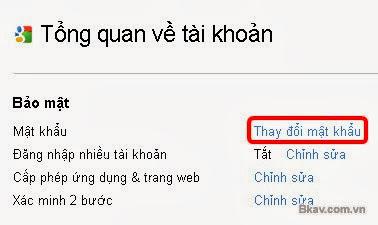 cach doi mat khau gmail giao dien tieng viet buoc 2 Hướng dẫn cách thay đổi mật khẩu Gmail bằng hình ảnh