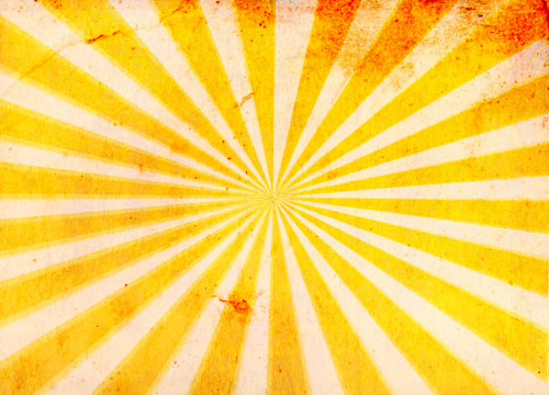 Create a grungy sunburst background texture in Photoshop.