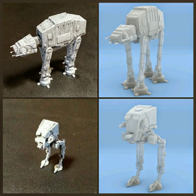 AT-ST y AT-AT de Mel Miniatures