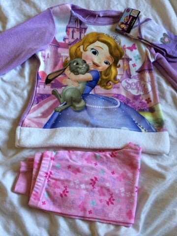 Sofia the first child fleece pjs