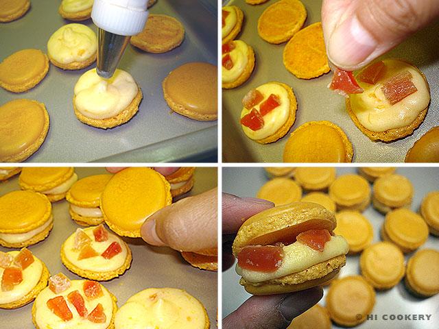 Papaya Macarons
