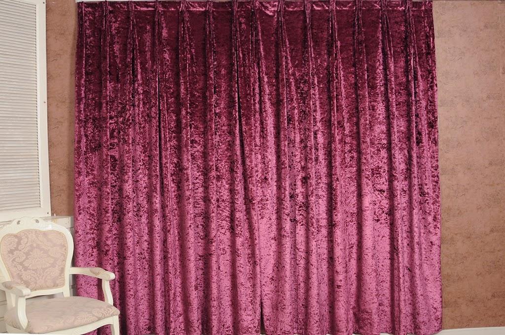 Plum Dense Crushed Velvet Curtains Full Lining 580cmX260cm Drop Home ...