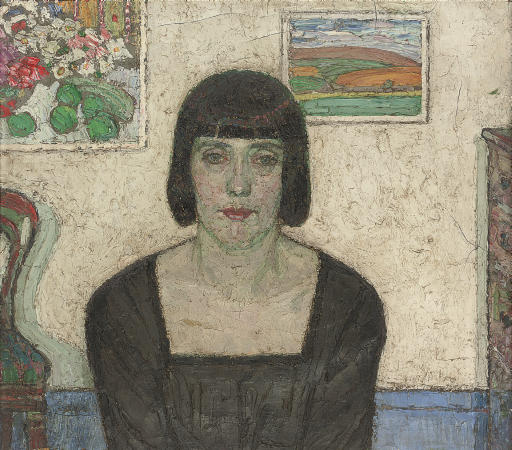 Leon De Smet – Portrait of the artist`s wife, 1917-1919