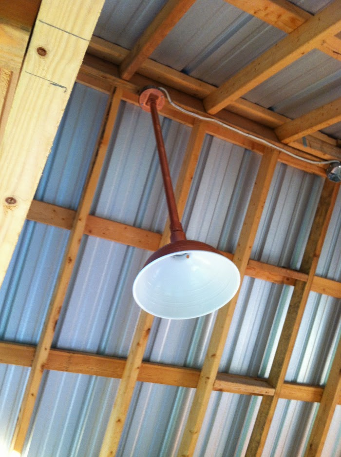 DIY Copper Barn Light for under $20