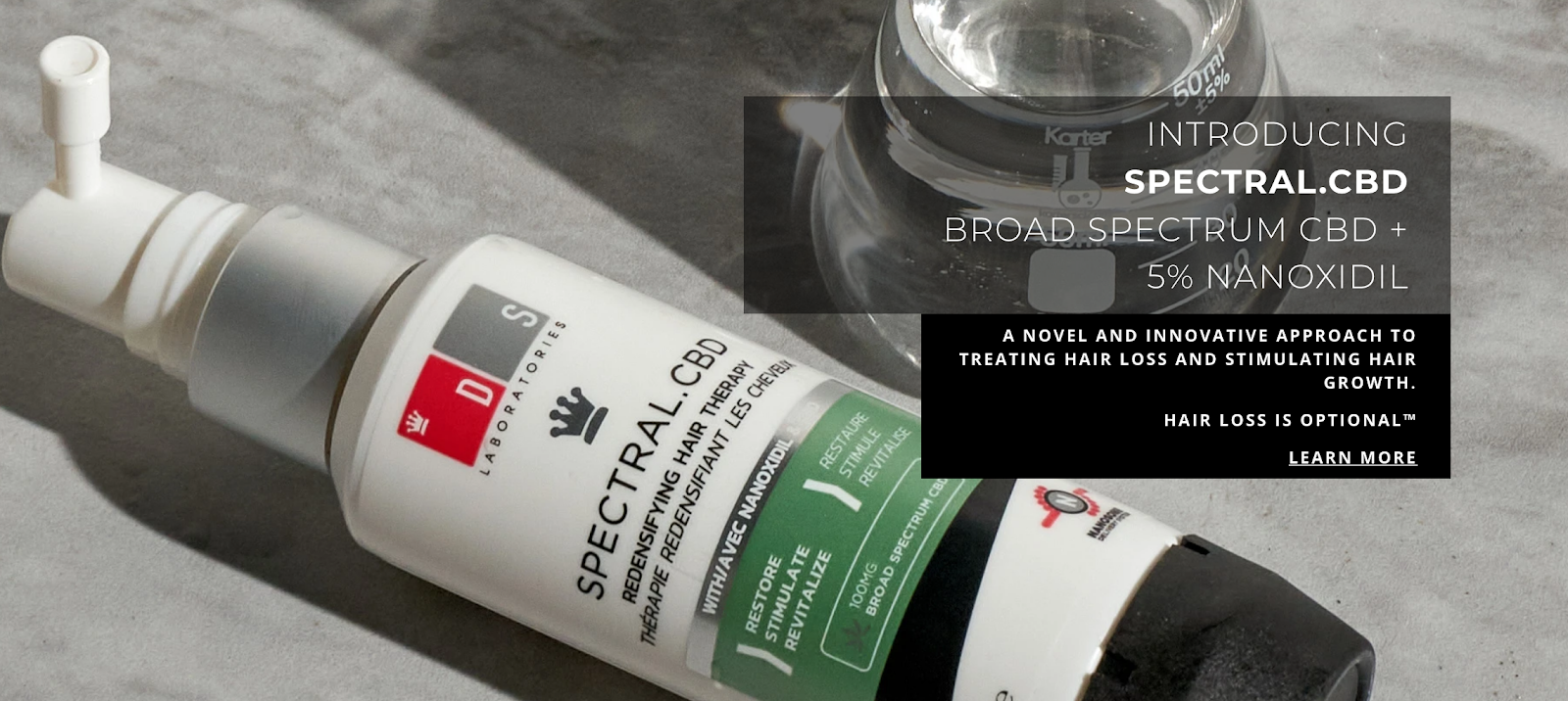 Spectral.CBD by DS Laboratories to treat hair loss and stimulate hair growth