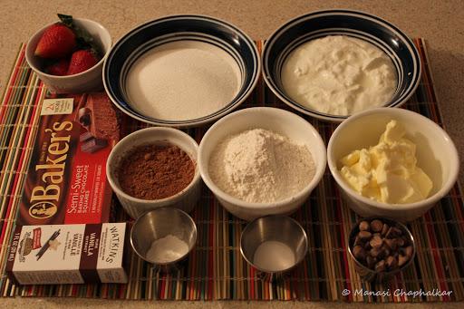Eggless Molten Choco Lava Cake Ingredients