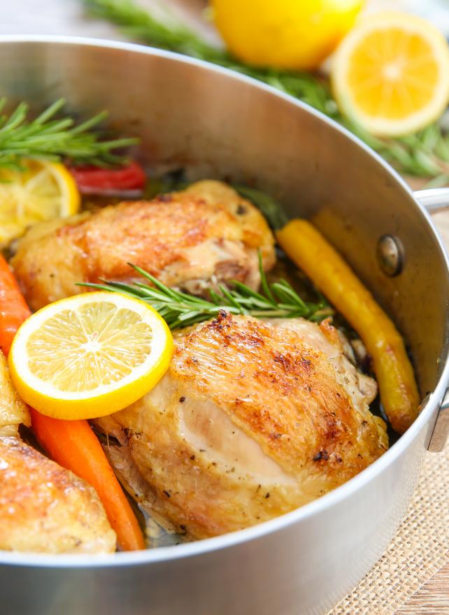 photo of Lemon Garlic Chicken in a pan