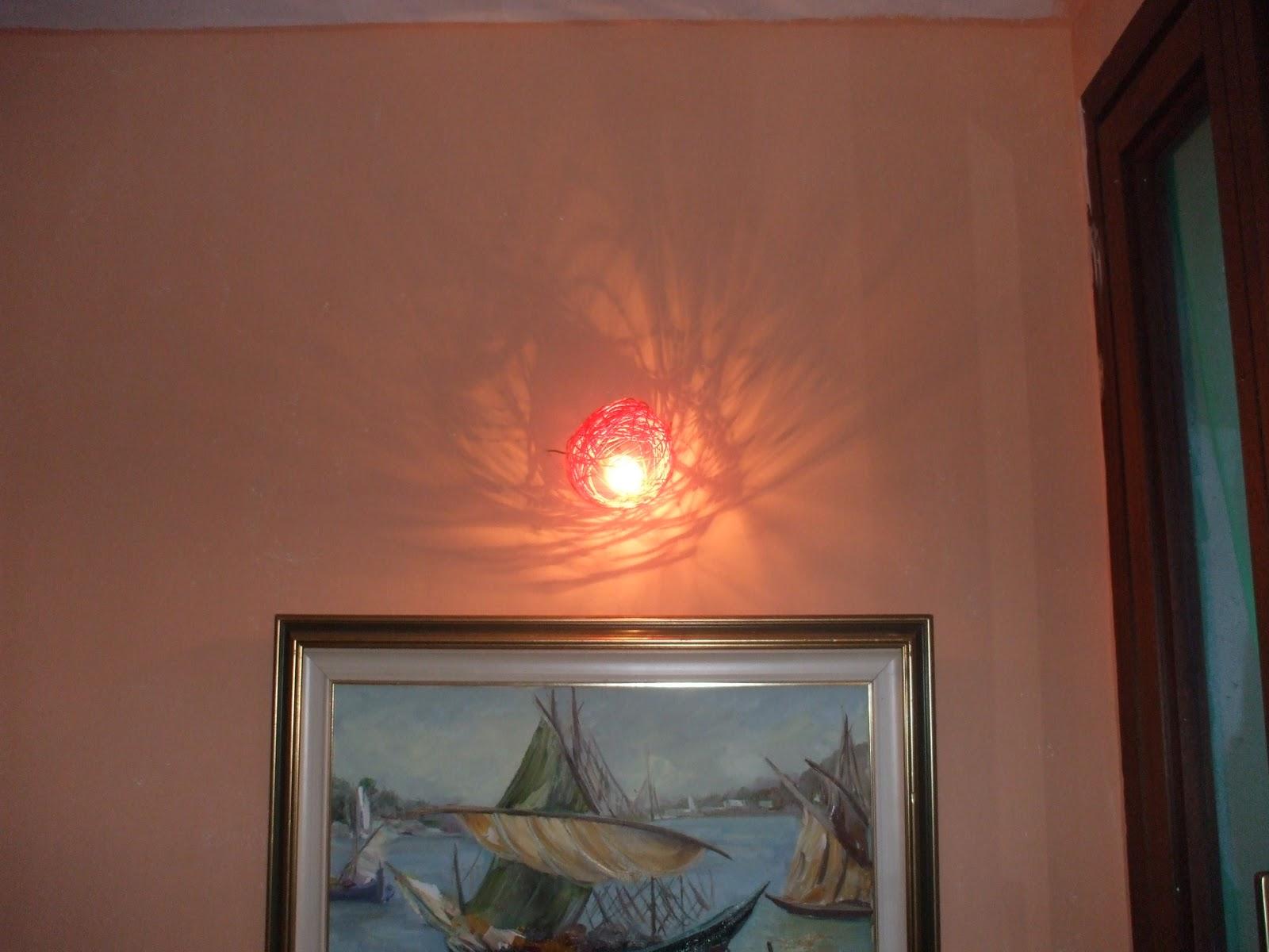 Lampadario In Legno Fai Da Te : Creofacile applique o lampadario design con meno di un euro